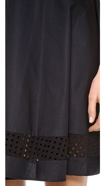 Jonathan Simkhai Peek-A-Boo Eyelet Dress
