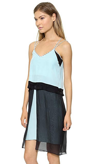 Jonathan Simkhai Split Layer Tank Dress