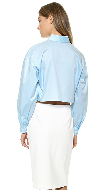 Jonathan Simkhai Bib Front Oxford Shirt