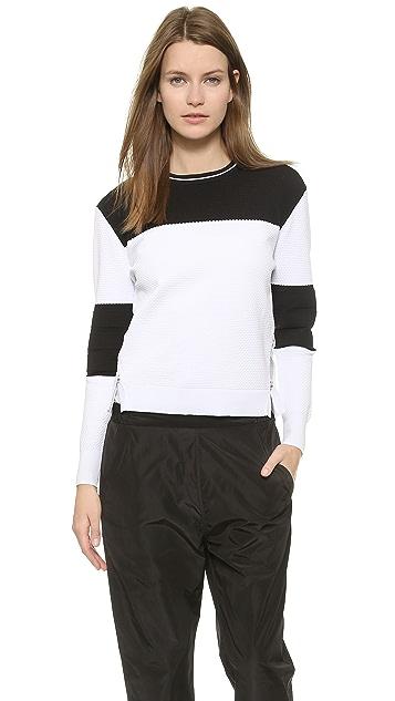 Jonathan Simkhai Bubble Knit Varsity Sweater