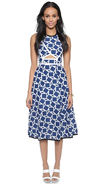 Jonathan Simkhai Wrap Cutout Dress