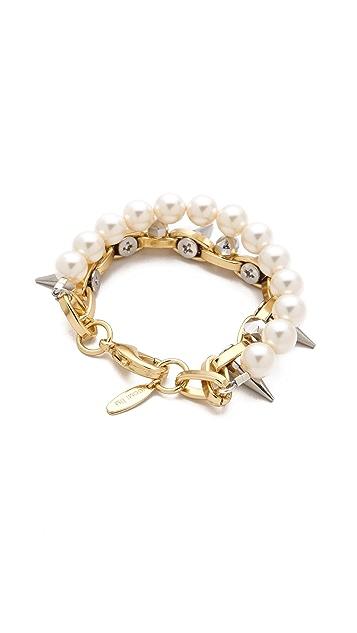 Joomi Lim London Calling Skull Layered Bracelet