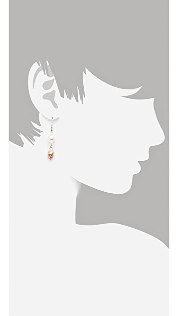 Joomi Lim London Calling Asymmetric Earrings