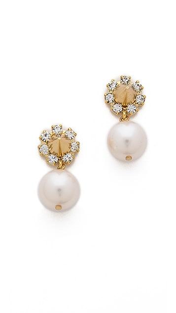 Joomi Lim Baroque Punk Crystal & Spike Earrings