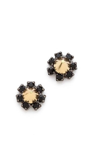 Joomi Lim Baroque Punk Crystal Stud Spike Earrings