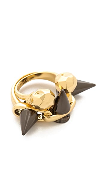 Joomi Lim Baroque Punk Skull & Spike Ring Set