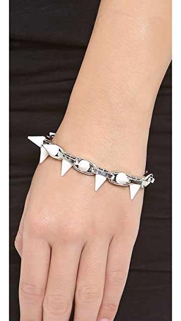 Joomi Lim White Out Double Row Spike Bracelet