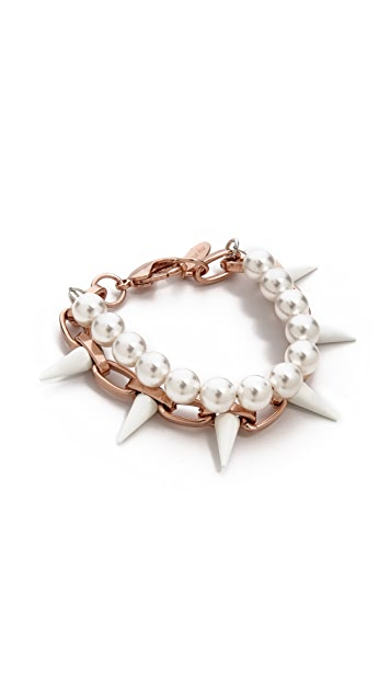 Joomi Lim White Out Chain & Spike Bracelet