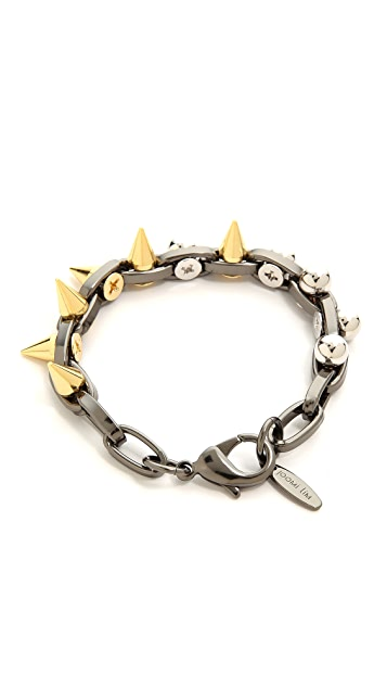 Joomi Lim Metamorphosis Double Row Bracelet With Spheres & Spikes