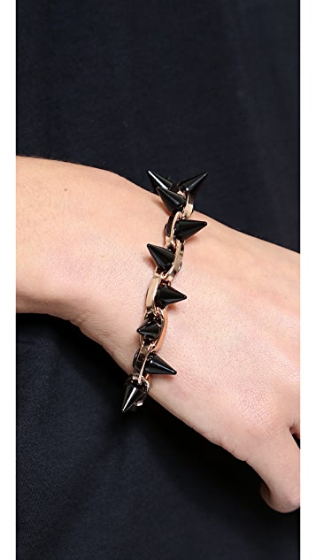 Joomi Lim Black Out Double Row Spike Bracelet