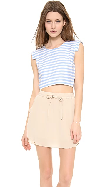 J.O.A. Striped Crop Top