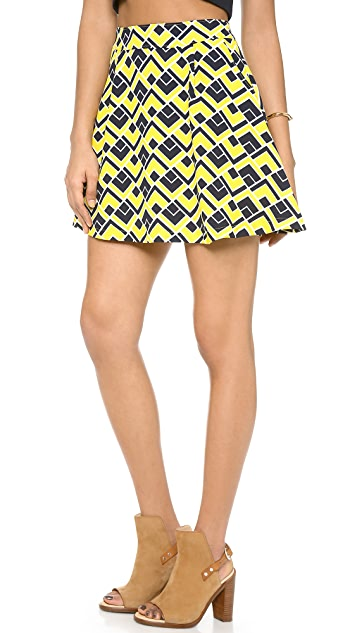 J.O.A. Printed Skirt