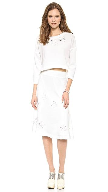 J.O.A. Jamie's Floral Detailed Skirt