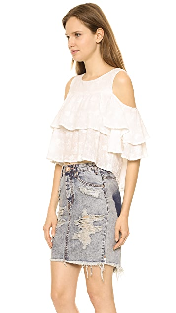 J.O.A. Ruffled Blouse