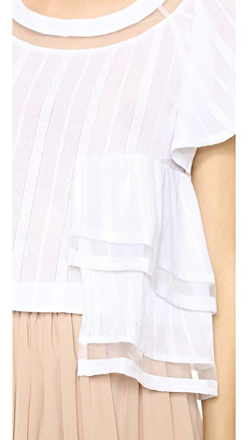 J.O.A. Short Sleeve Blouse