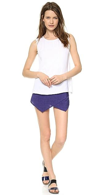 J.O.A. Asymmetrical Hem Shorts