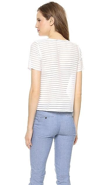 J.O.A. Striped Top