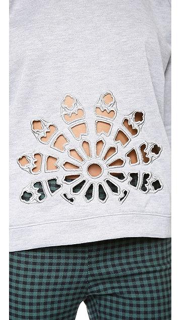 J.O.A. Laser Cut Sweatshirt