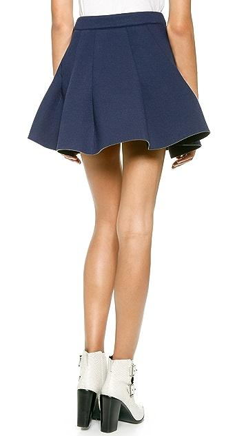 J.O.A. Pleated Neoprene Skirt
