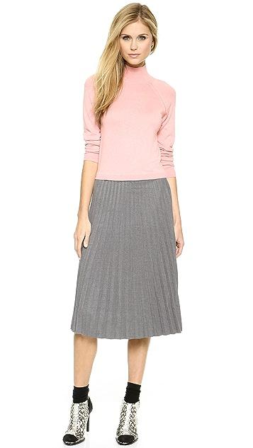 J.O.A. Pleated Midi Skirt