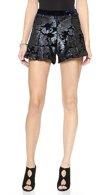 J.O.A. Fete Sequin Shorts
