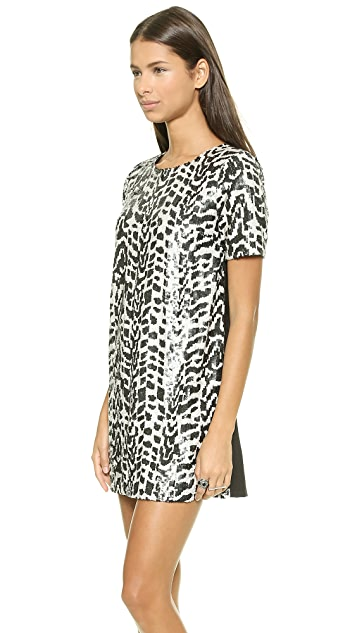 J.O.A. Sequin Jungle Dress
