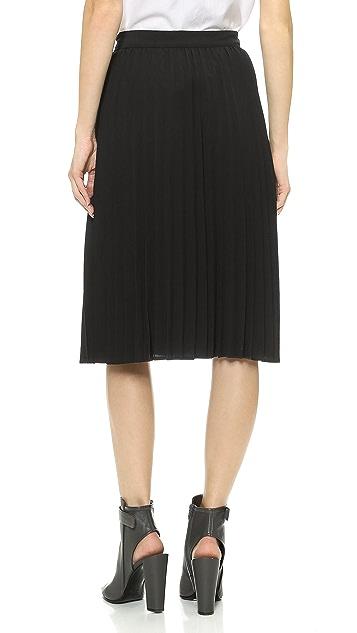 J.O.A. Embellished Pleats Skirt