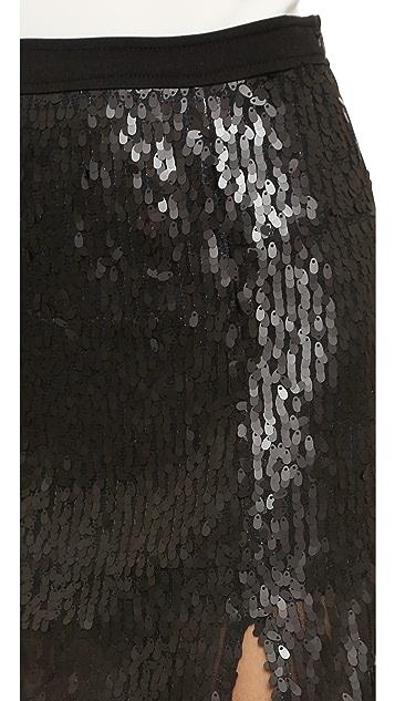 J.O.A. Sequin Slit Skirt