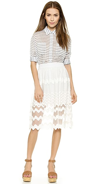 J.O.A. Scallop Lace Skirt