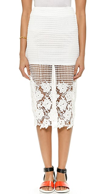 J.O.A. Floral Lace Skirt