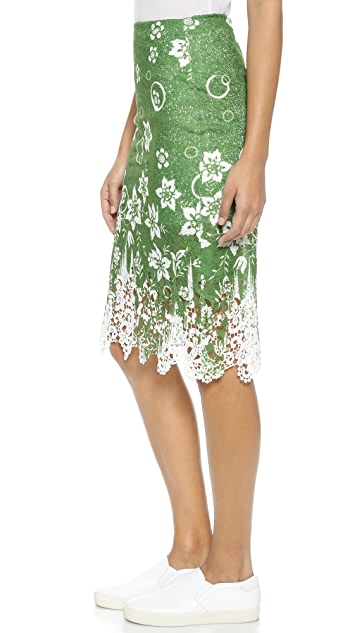 J.O.A. Tropical Safari Lace Skirt