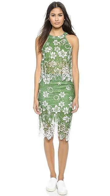 J.O.A. Tropical Safari Lace Skirt