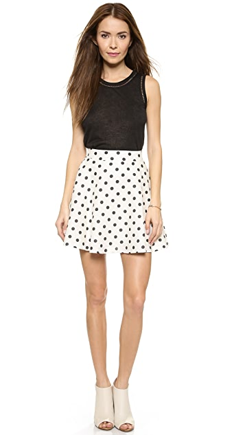 J.O.A. Polka Dot Skirt