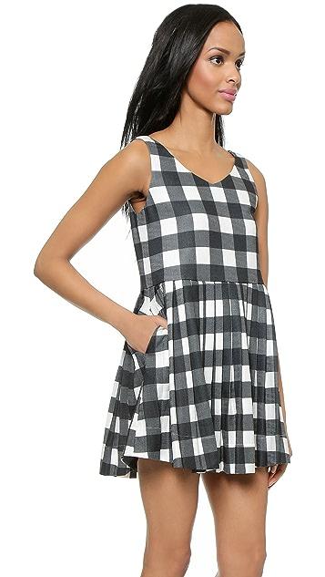 J.O.A. Gingham Dress