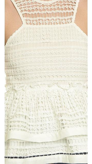 J.O.A. Crochet Blouse