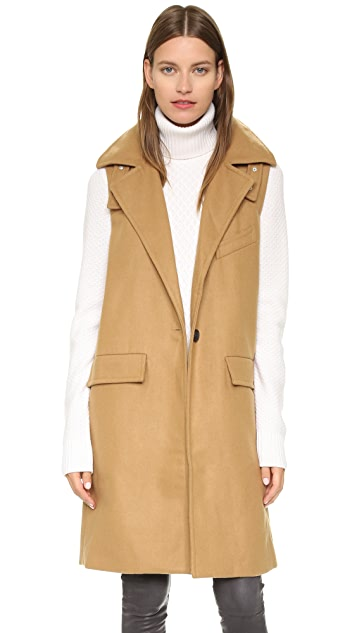 J.O.A. Пальто без рукавов на одной пуговице