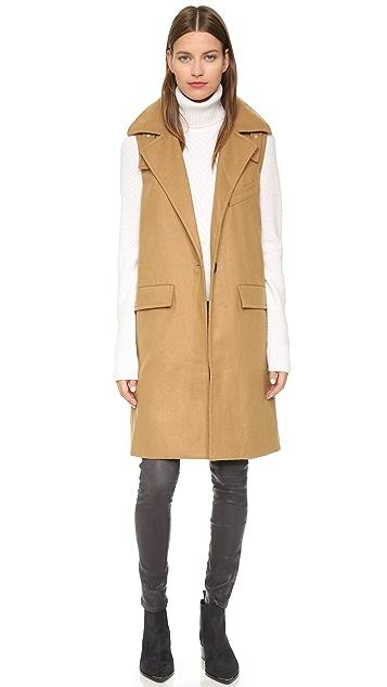 J.O.A. Sleeveless One Button Coat