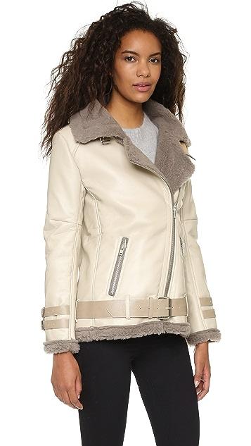 J.O.A. Shearling Contrast Jacket