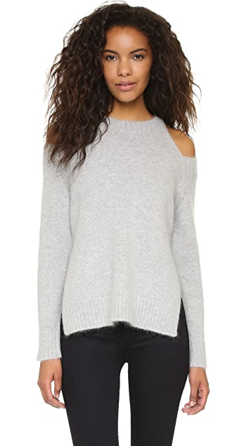 J.O.A. Cold Shoulder Sweater