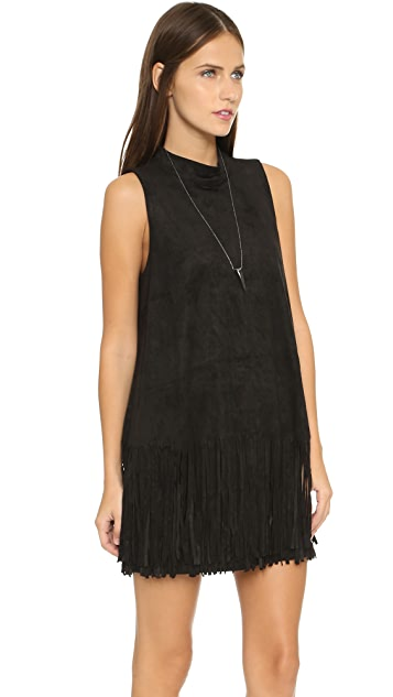 J.O.A. Fringe Mini Dress