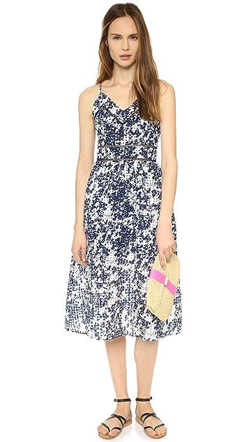 J.O.A. Printed Midi Dress