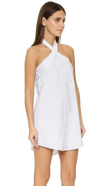 J.O.A. Button Front Mini Dress