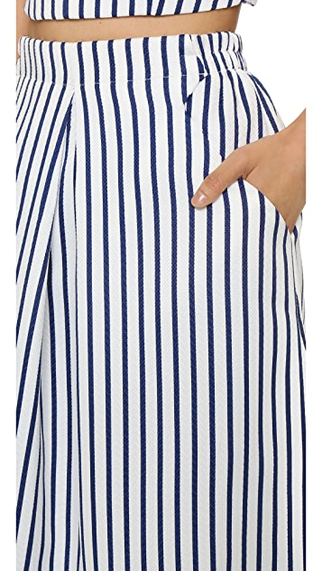 J.O.A. Stripe Midi Skirt