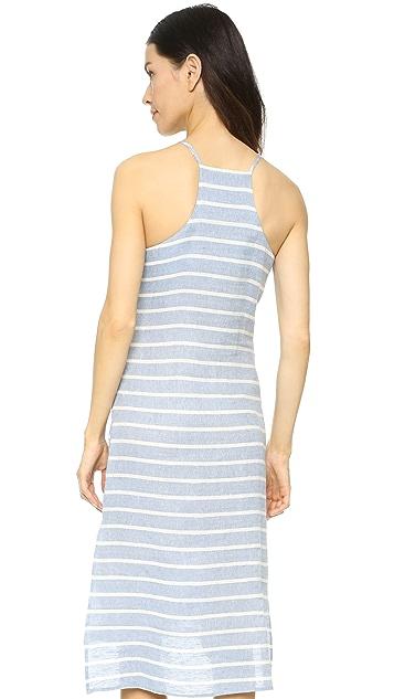 J.O.A. Платье в полоску с завязками