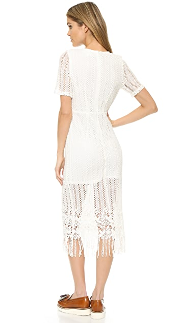 J.O.A. Связанное крючком миди-платье