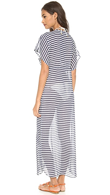 JOSA tulum Rustic Thin Stripe Cover Up Dress