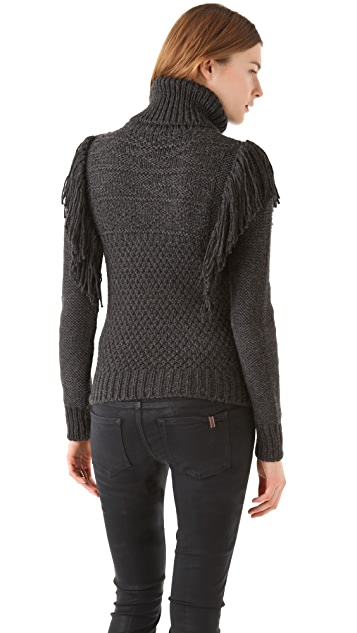 Joseph Fringe Roll Neck Sweater