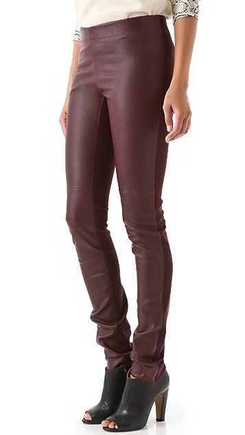 Joseph Leather Front Leggings