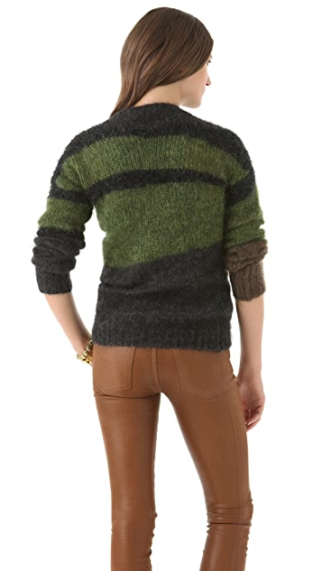 Joseph Military Intarsia Sweater