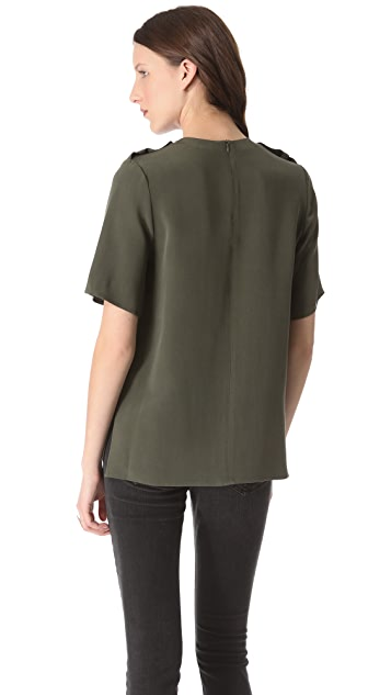 Joseph Marin Pocket Blouse